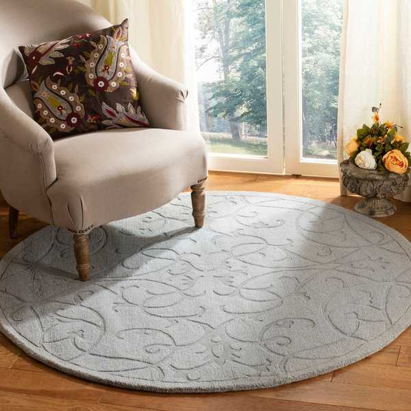 Safavieh Handmade Irongate Grey New Zealand Wool Rug - 5' x 5' round