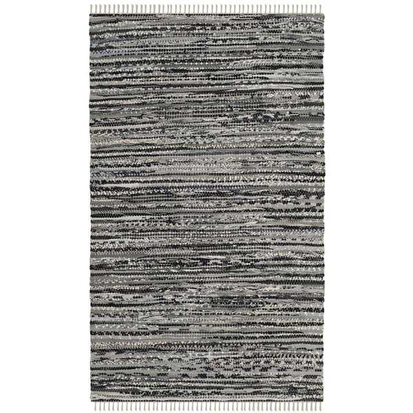 Safavieh Rag Rug Transitional Stripe Hand-Woven Cotton Grey Area Rug - 2' X 3'