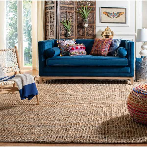 Safavieh Casual Natural Fiber Hand-Woven Natural Accents Chunky Thick Jute Rug - 2'6' x 14'