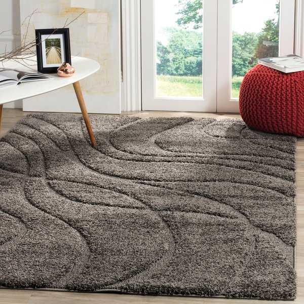 Safavieh Florida Ultimate Shag Contemporary Grey / Grey Shag Rug - 8'6' x 12'