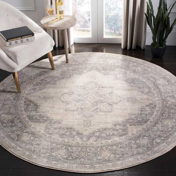 Safavieh Brentwood Traditional Oriental - Cream / Grey Rug - 6'7' x 6'7' round